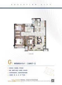 新鸥鹏教育城·哈佛公馆G户型