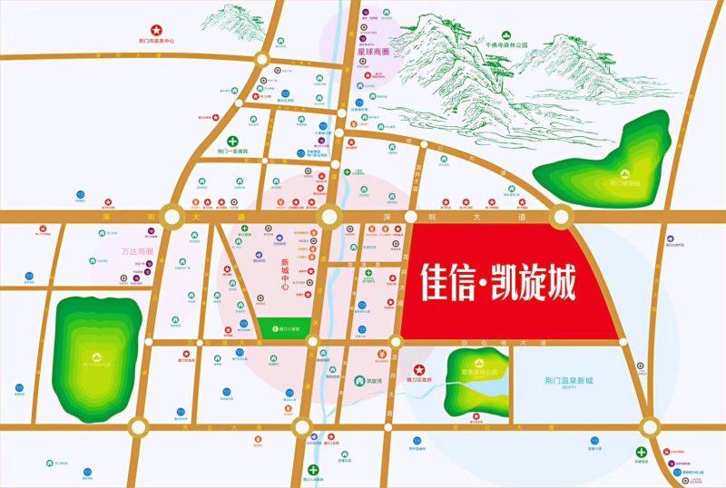佳信·凯旋城区位图