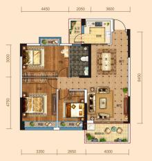 紫荆澜庭户型图
